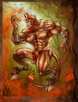 red headed satyr