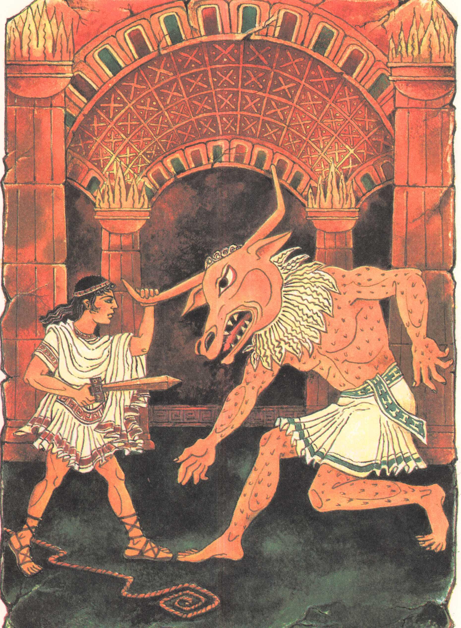 легенда о минотавре с картинками техника