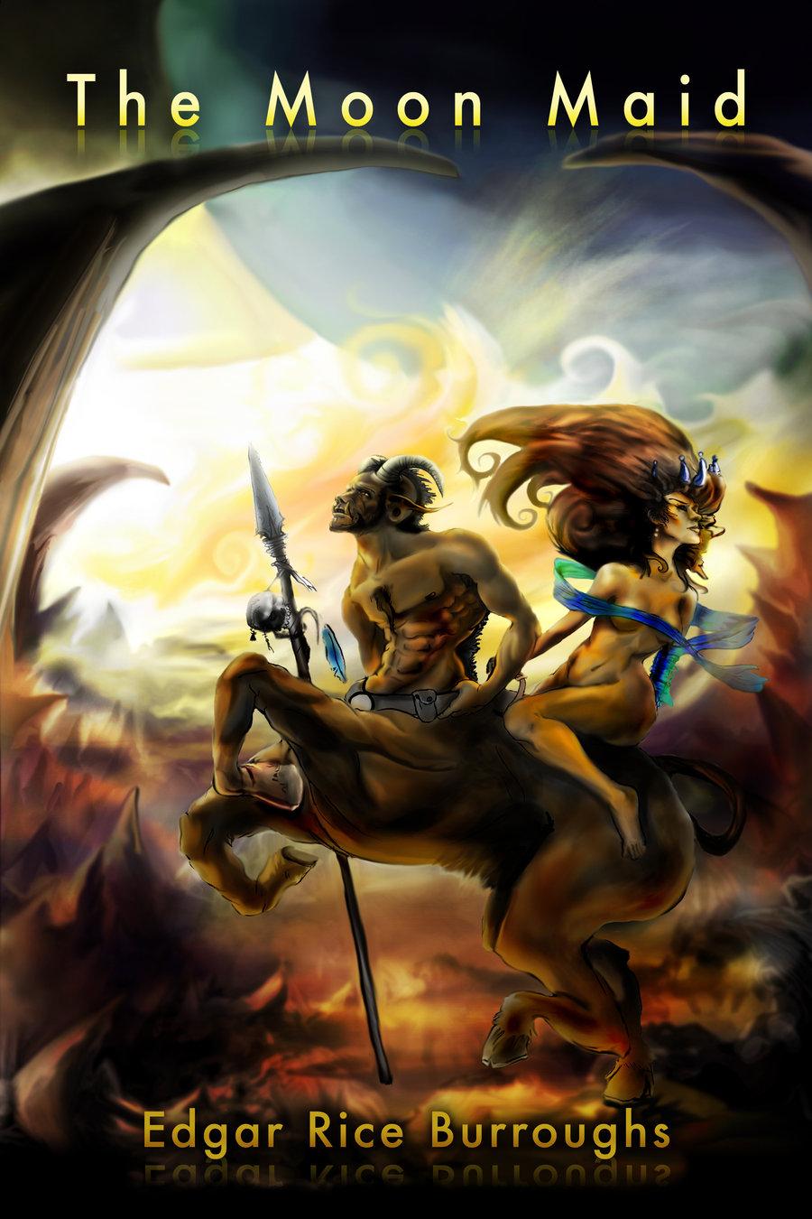 serious centaur illustration  from  u201cthe moon maid u201d