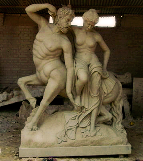 Centaur and Maenad Statue