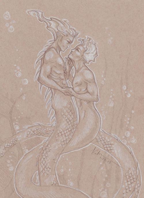 sexy sea serpents by silvertales