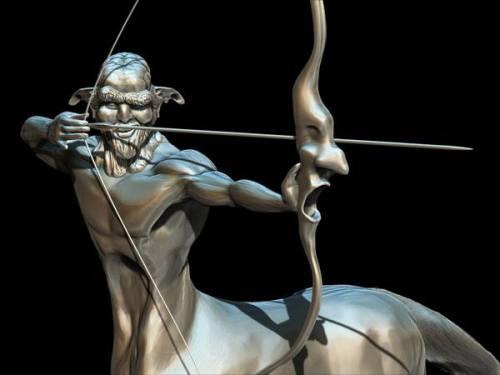 centaur 3D sculpt by piotr wilk detail