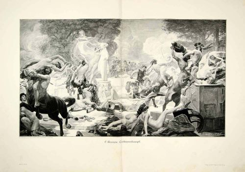 Centaurs Battle by Gervais 1907