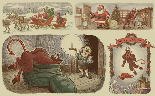 Manimal Christmas Animation: Minstrel Krampus | Centaurica