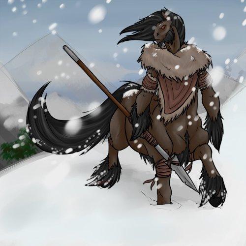Mountain Centaur by Vampirika