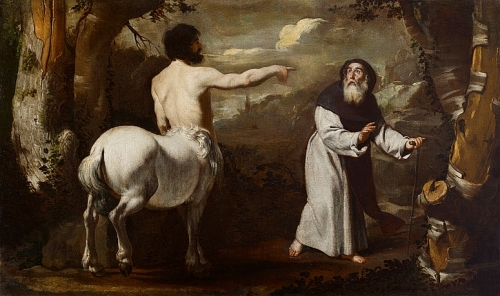 Saint Anthony Abbot and The Centaur by Francesco Guarino 1642