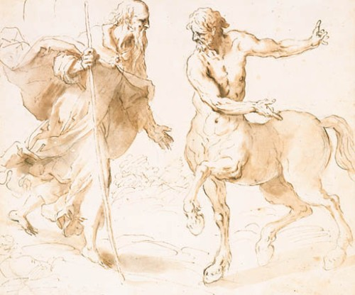 Saint Anthony and The Centaur by Jacopo Negretti