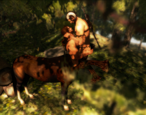 Centaur and Satyr Love