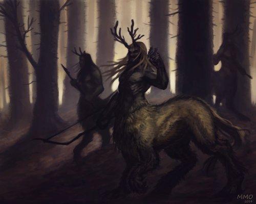 Woodland Centaurs by Olah Marin