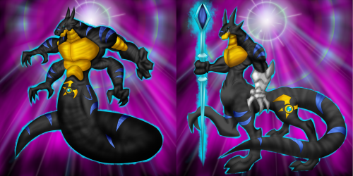 Ygo Ld Darkmoon Chieftain and Warlord by Arkaeldarknnes
