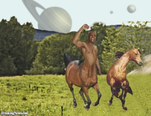 Centaur Running with a Horse