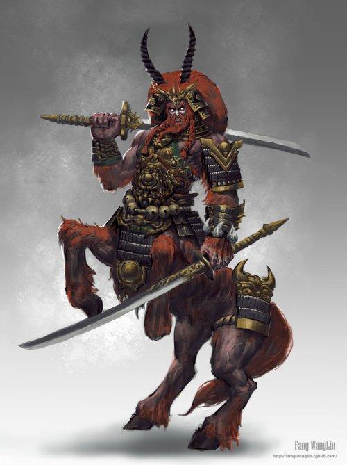 Centaur Warrior by Fang Wang Lin