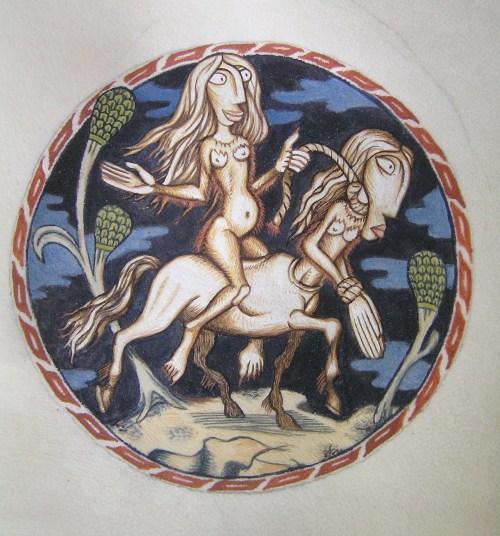 Feral Woman Centaur
