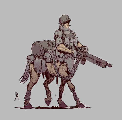 World War Centaur by Jake Parker