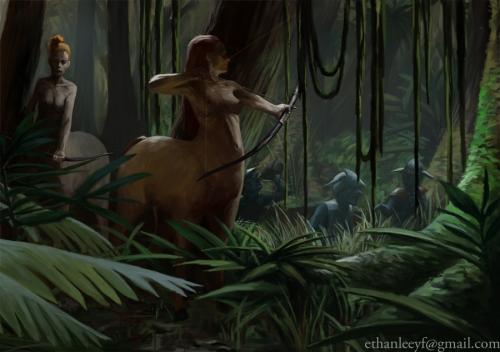 Centaur Ambush by Ethan Leeyf