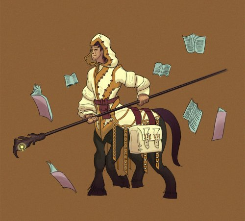 Centaur Wizard Librarian by Azzy Cola0u
