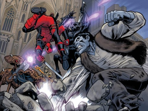 Deadpool vs Frankenstein and Friends by Reilly Brown