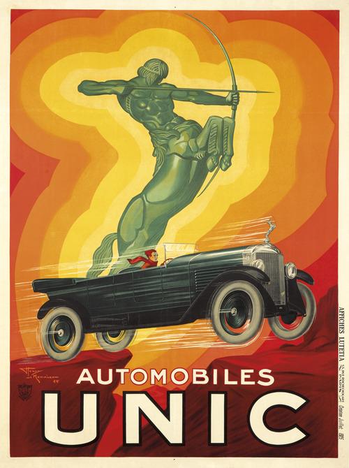 Unic Auto Centaur Archer poster 1928 by Henry Le Monnier