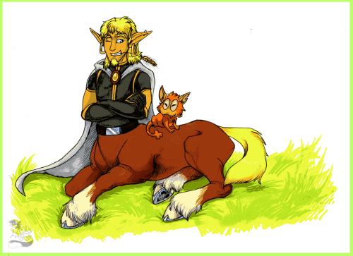 Amaknian Centaur by Husky Foxgryph