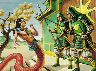 Naga Aid Rejected L5R card art