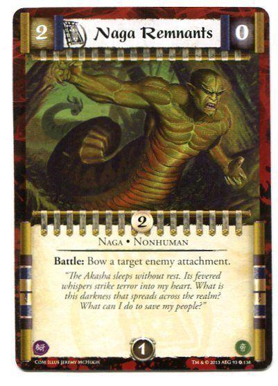 Naga Remnants L5R trading card