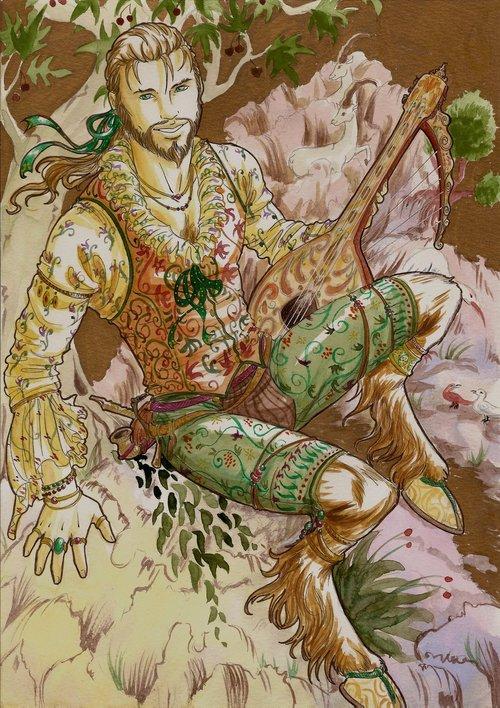 Pretty Satyre Bard by Tirawa-P