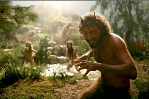 Vincent Cassel as satyr in Sa Majeste MInor