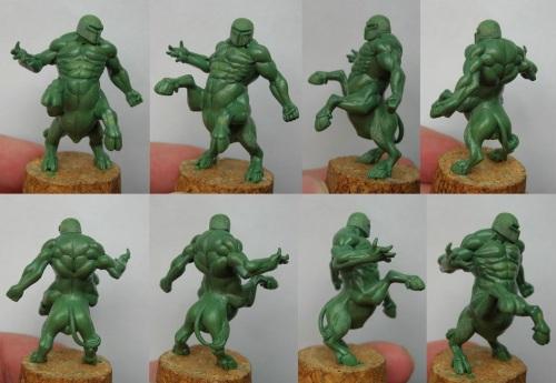 Chaos Dwarf Centaur, Willy Miniatures by Serg Natos