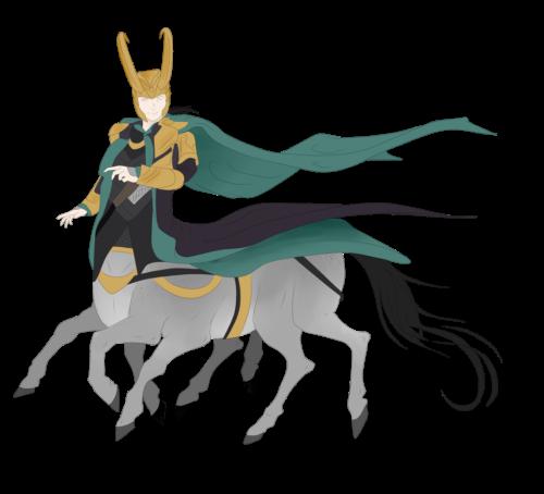 Loki Horsey by Flying Zamora