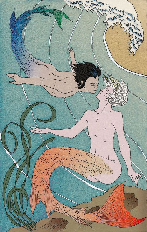 Cain and Abel (Starfighter) as Mermen by Biiff