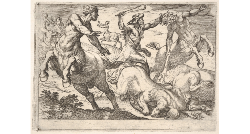 Hercules and the Centaurs by Antonio Tempesta c1600