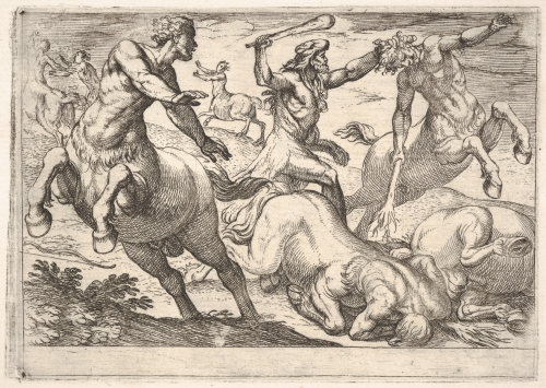 Hercules and the Centaurs by Antonio Tempesta